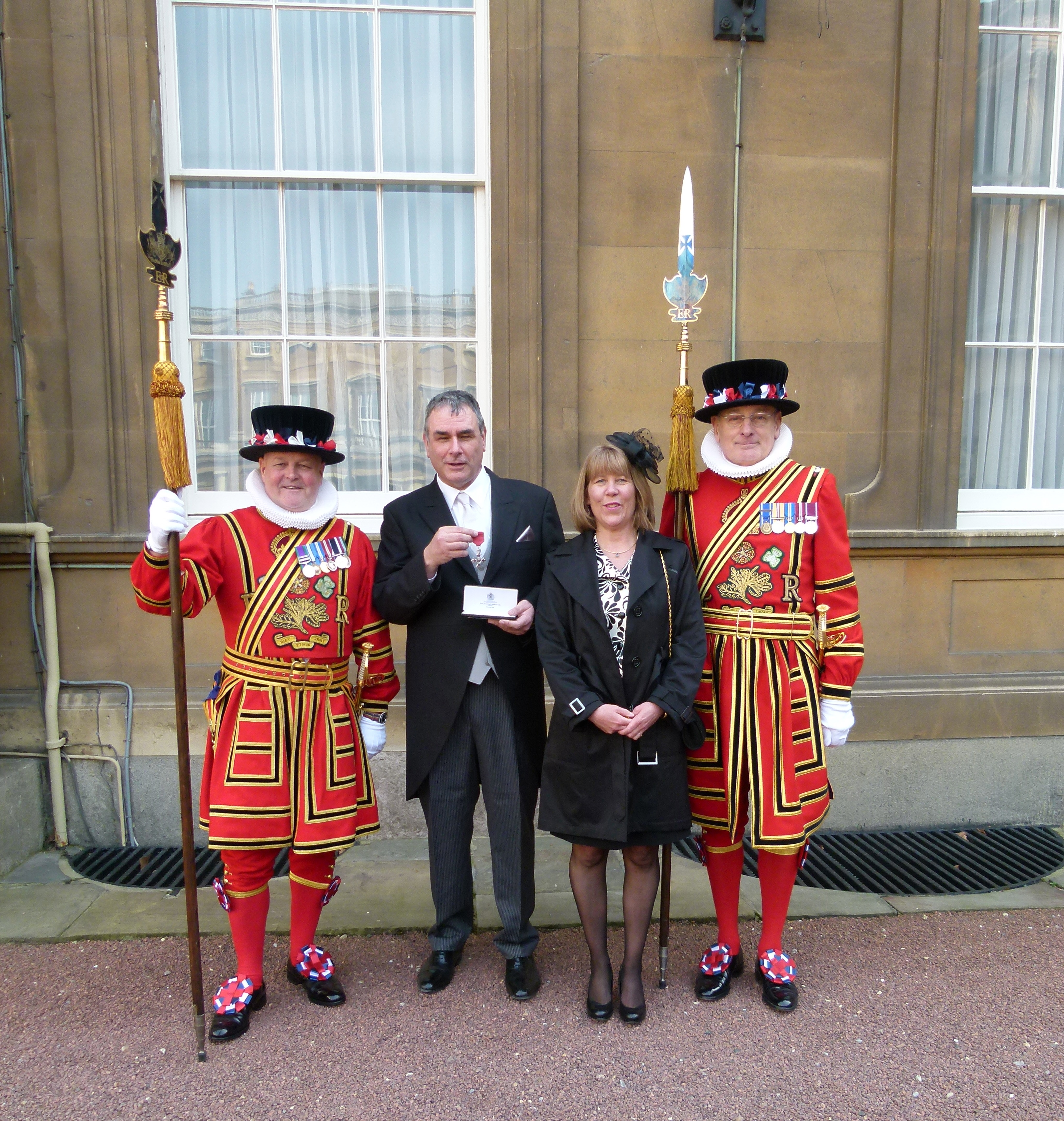 Dr Todd Gray with his MBE