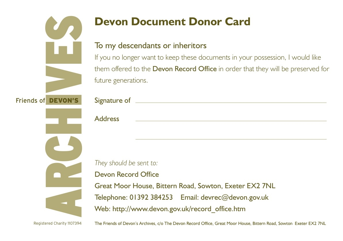 Devon Document Donor Card image